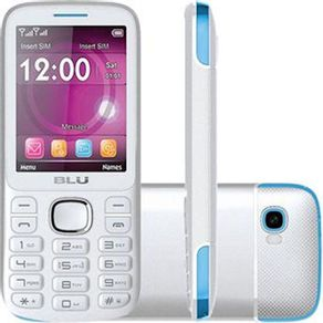 Telefone Celular Blu Jenny Tv 2chips Bluetooth Mp3 Mp4 Câmera Com Flash Branco/azul