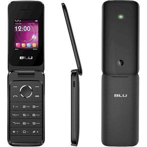 Telefone Celular Blu Diva Flex Preto Dual Chip Micro Sd 32gb Mp3 Mp4 Câmera Com Flash